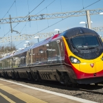 A Virgin Pendolino speeds through Watford Junction