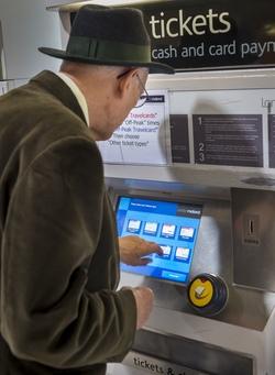 Man using Ticket Machine